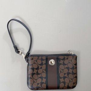 COACH Brown Wristlet / Wallet